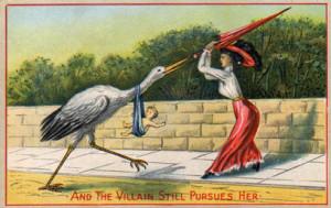 VictorianPostcard Stork